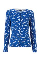 Tommy Hilfiger Delila Printed Crew Neck Long Sleeve Cardigan - Lyst