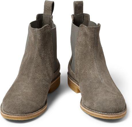 Cool Bottega Veneta BuffaloSuede Chelsea Boots In Brown For Men Junior