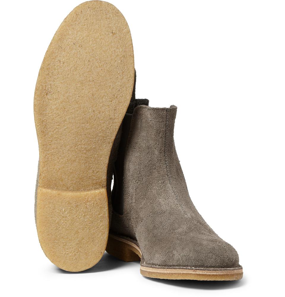 Bottega Veneta Suede Chelsea Boots In Gray For Men Lyst