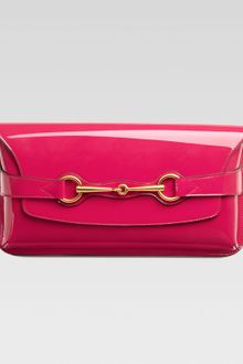 Gucci Patent Leather Clutch  - Lyst