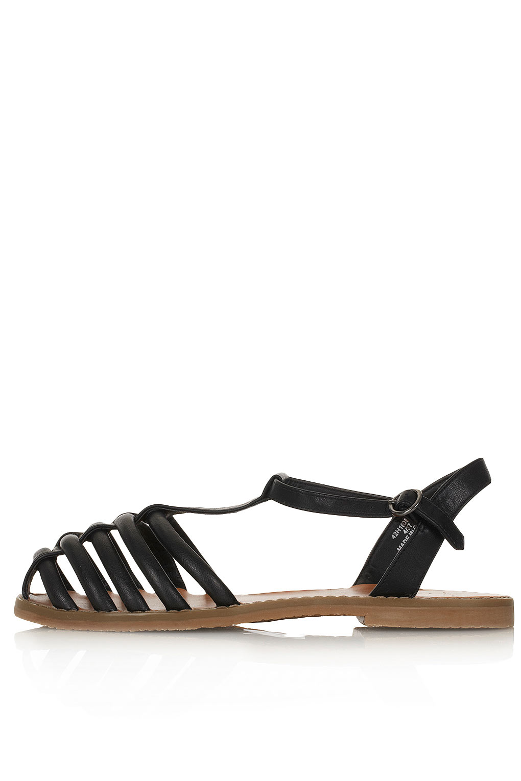 Black Caged Flat Shoes