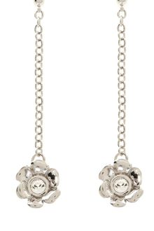 Karen Millen Twin Flower Drop Earring - Lyst