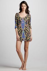 Mara Hoffman Psychic Readings Printed Coverup Dress - Lyst