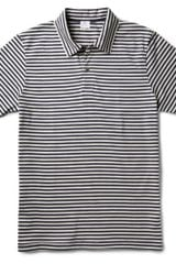 Sunspel Striped Cotton-jersey Polo Shirt - Lyst