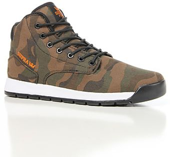 Supra The Backwood Sneaker in Camo Canvas Black Mesh Orange Accents - Lyst