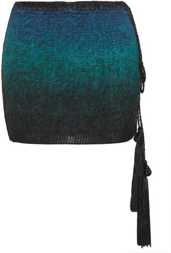 Tim Ryan Sea Green Mohair Skirt - Lyst