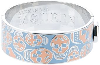 Alexander McQueen Skull Bangle - Lyst