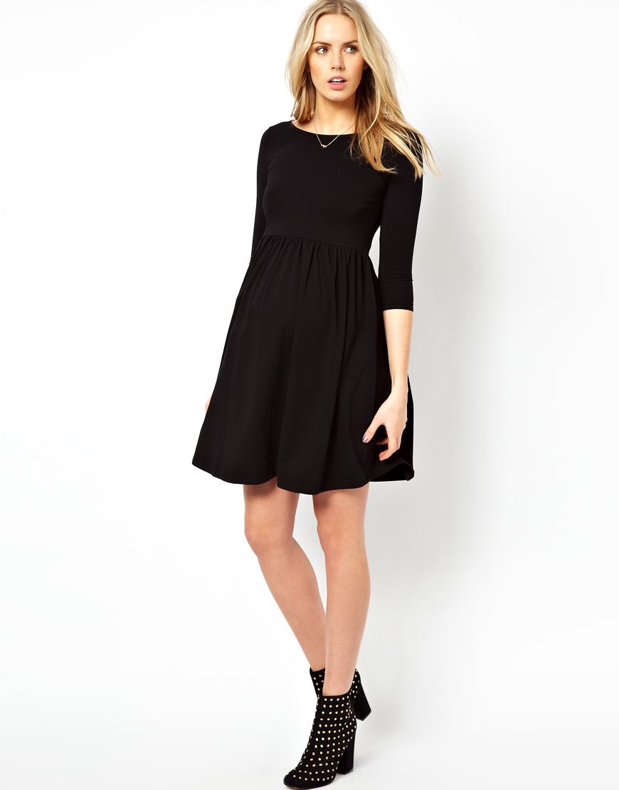 Asos asos maternity skater dress with slash neck in green lyst gallery ombrellifo Choice Image