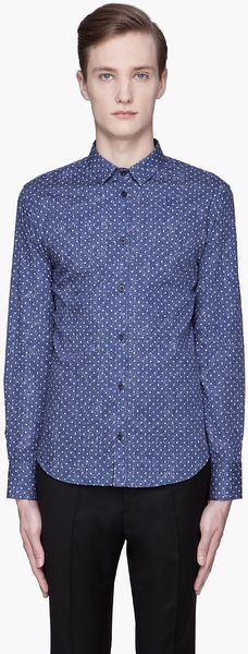 Billtornade  Polka Dot Layered Print Shirt - Lyst