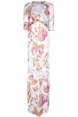 Emilio Pucci Butterfly Print Maxi Dress - Lyst