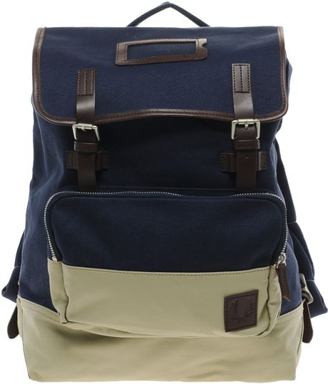Fred Perry Backpack in Blue for Men (navy) - Lyst