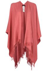 Jo No Fui Cape with Fringed Edging - Lyst
