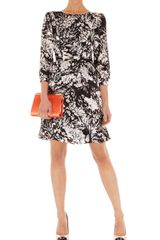 Karen Millen Fluid Floral Print Dress - Lyst