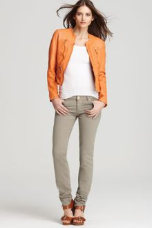 Michael by Michael Kors Soft Leather Zip Jacket - Lyst