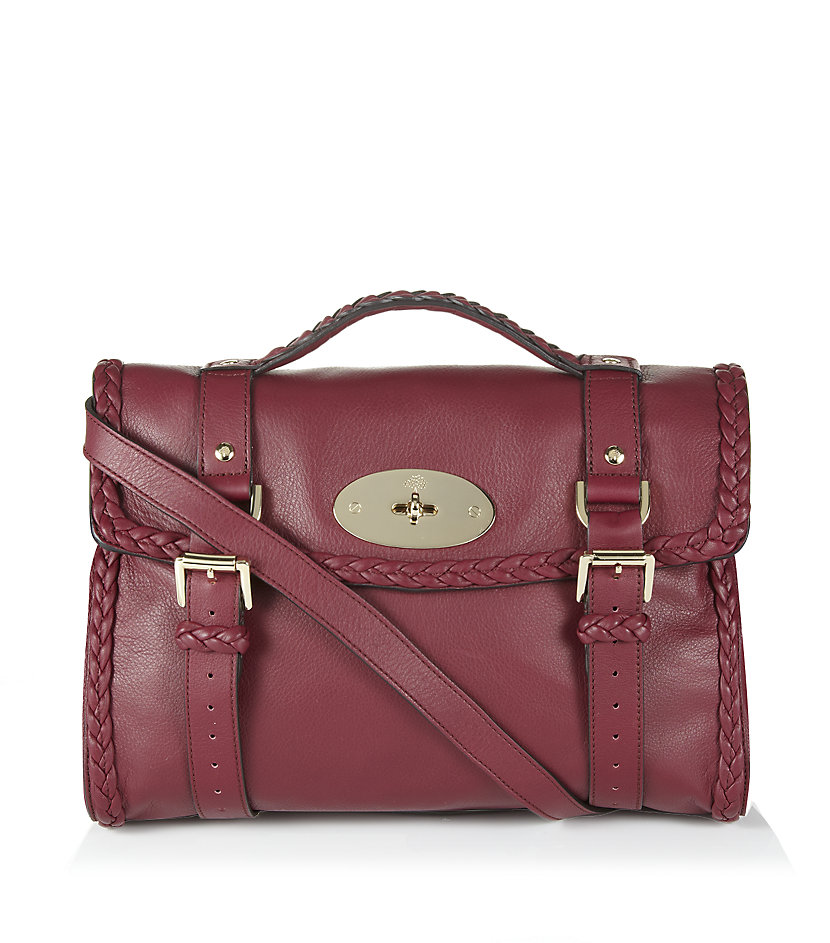 Mulberry Woven Trim Alexa Bag In Purple Berry Lyst