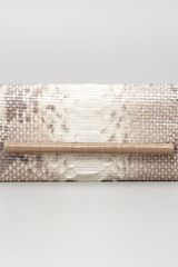 Nancy Gonzalez Crocodile Glitter Python Clutch Bag Natural - Lyst