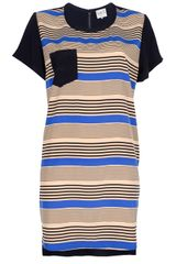 Sea Stripe Print Dress - Lyst