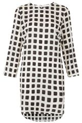 Topshop Grid Print Tunic Dress