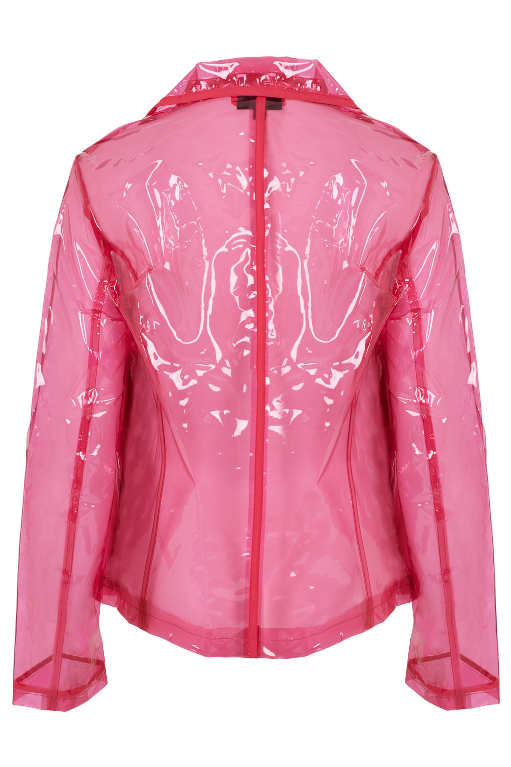 Topshop Pink Clear Plastic Jacket In Pink Lyst