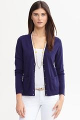 Banana Republic Tipped Cardigan - Lyst