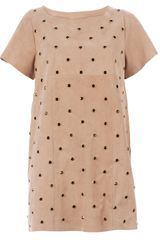 Drome Embellished Goat Skin Dress - Lyst