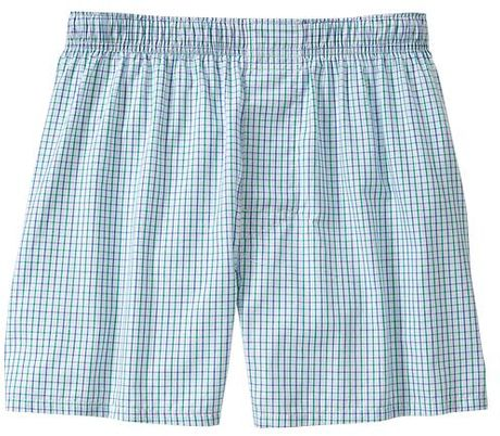 Gap Mini Square Boxers in Blue for Men (blue tattersal) - Lyst