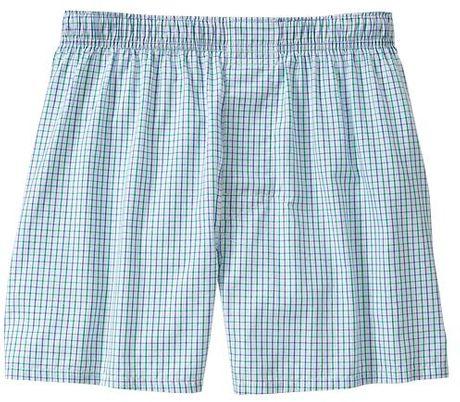 Gap Mini Square Boxers in Blue for Men (blue tattersal)