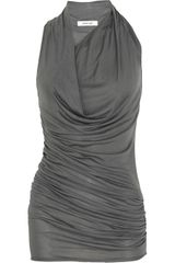 Helmut Lang Ruched and Draped Jersey Dress - Lyst