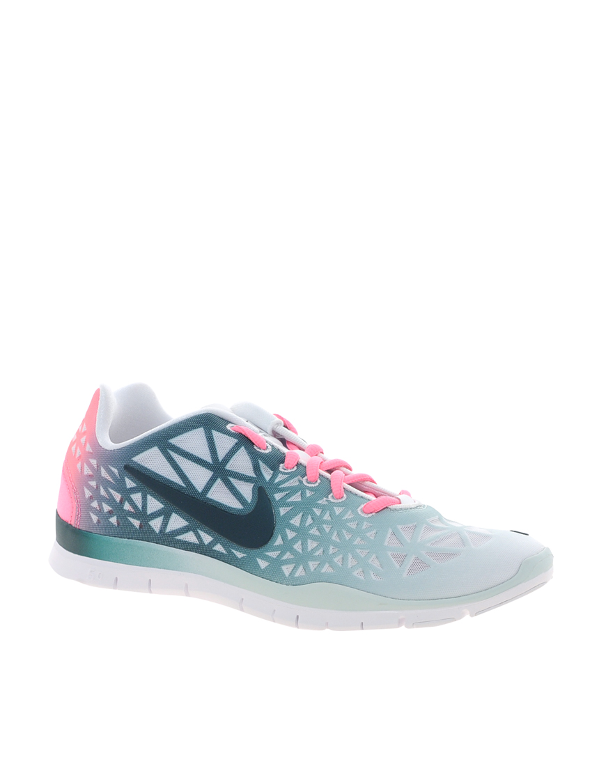 womens nike free fit 3 dye white/green vs green/white