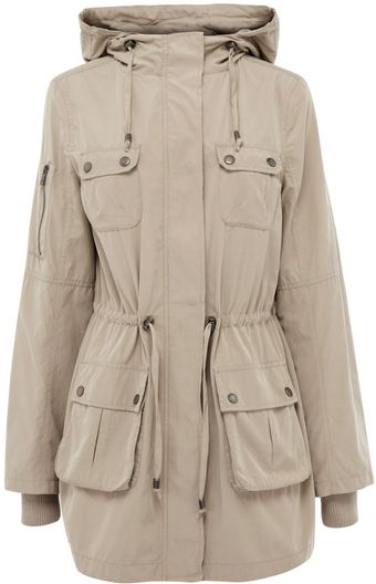 Oasis Dip Hem Parka Jacket Longer Length - Lyst