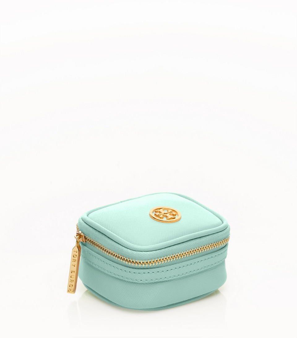 Lyst Tory Burch Robinson Tiny Jewelry Case in Blue