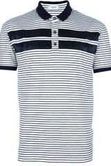 Valentino Striped Polo Neck Tshirt - Lyst