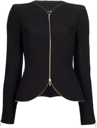 Alexander McQueen Zip Detailed Jacket - Lyst