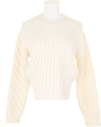 Alexander Wang Ribbed Wool Sweater with Side Slits Held Together with Lingerie Straps - Lyst