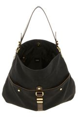Asos Metal Keeper Hobo Bag in Black - Lyst