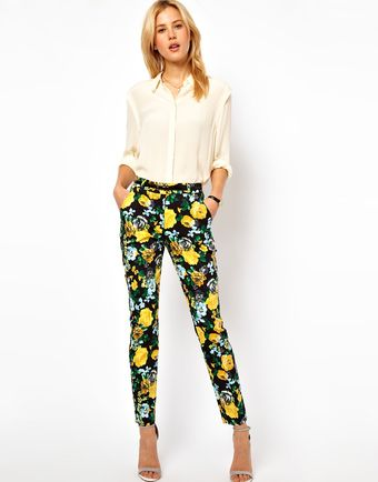 ASOS Collection Asos Trousers in Floral Print - Lyst