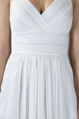 Burberry Pleated Top in White - Lyst