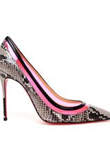 Christian Louboutin Paulina Python Leather Pumps in Animal (multi) - Lyst