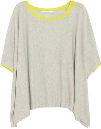 Duffy Neon Trimmed Draped Cashmere Sweater - Lyst