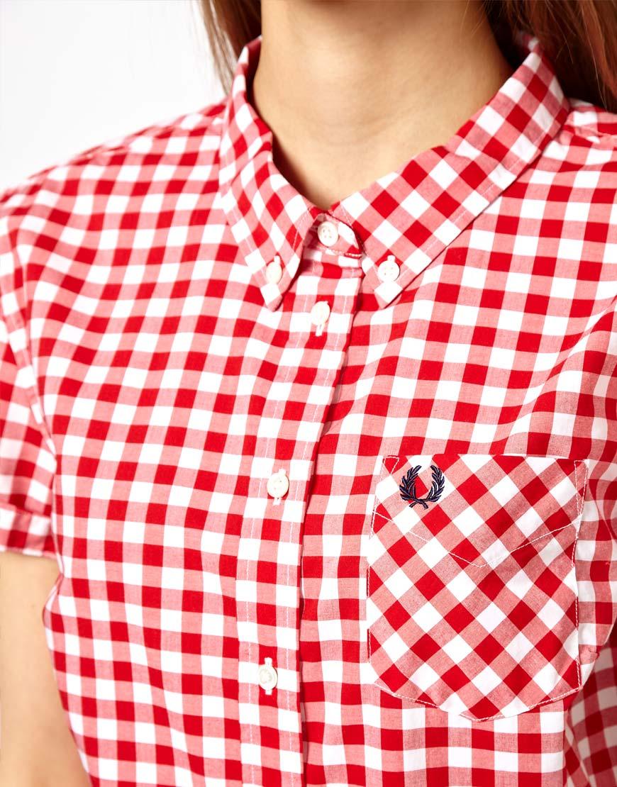 red gingham shirt womens