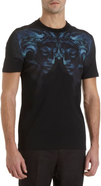 Givenchy Rams Head Tee in Blue for Men (black)