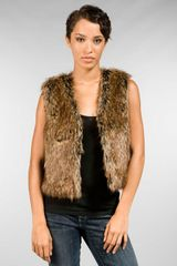 Graham & Spencer Faux Fur Vest - Lyst