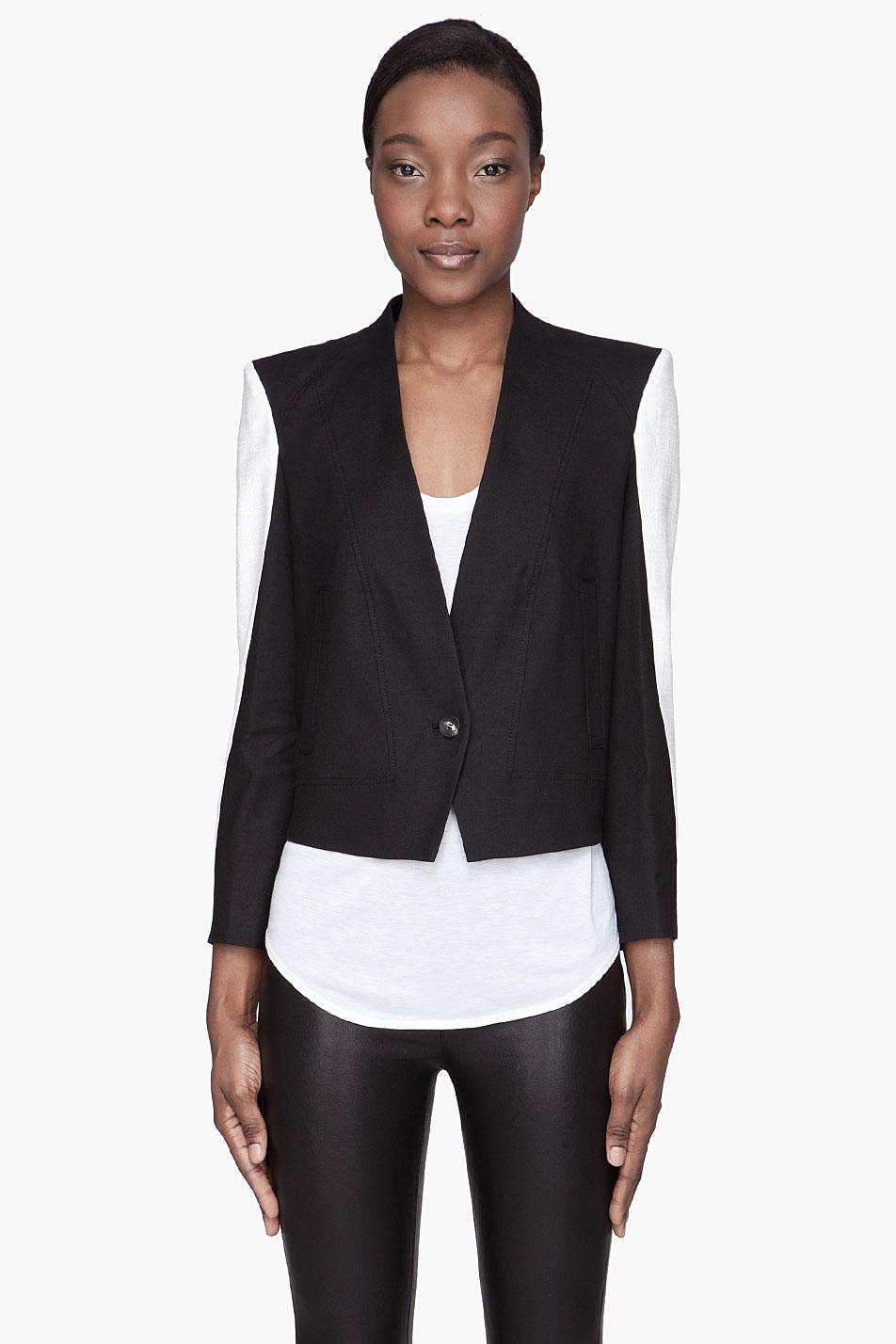 Helmut lang black and white jacket