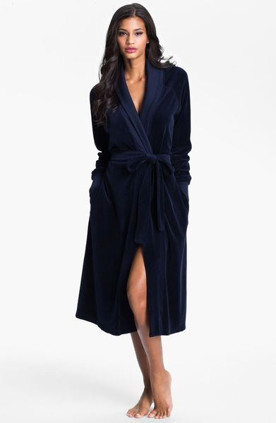Ladies velour robes long