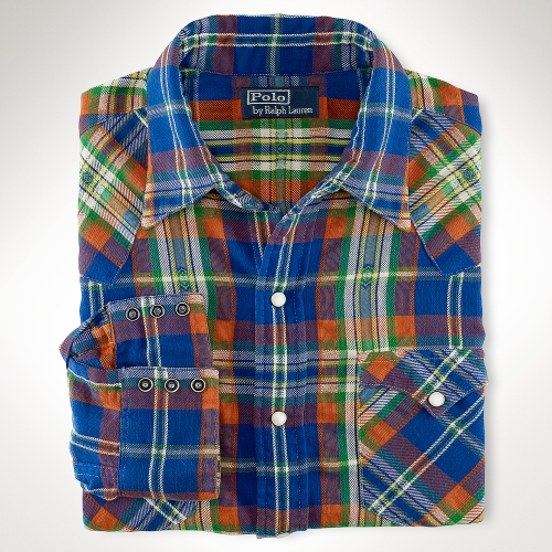 Lyst Polo Ralph Lauren Classic Plaid Western Shirt In
