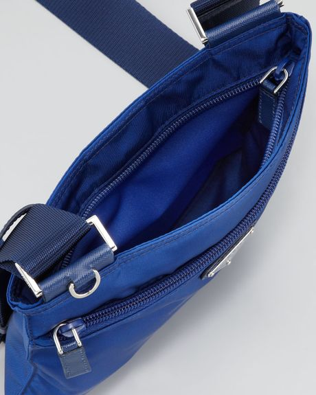 Prada Vela Crossbody Messenger Bag in Blue (royal blue)