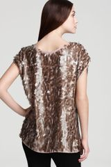 Rachel Zoe Top Marcy Tear Drop Sequin - Lyst