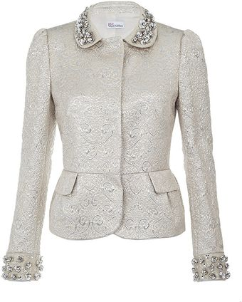 RED Valentino Embellished Jacquard Jacket - Lyst