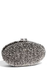 Sondra Roberts Beaded Minaudiere Box Clutch - Lyst