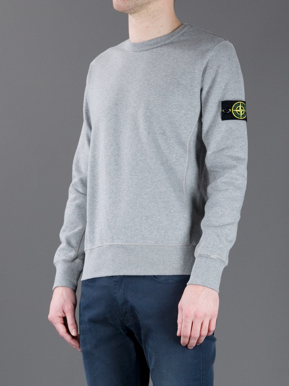stone island hoodie in grey marl. Black Bedroom Furniture Sets. Home Design Ideas